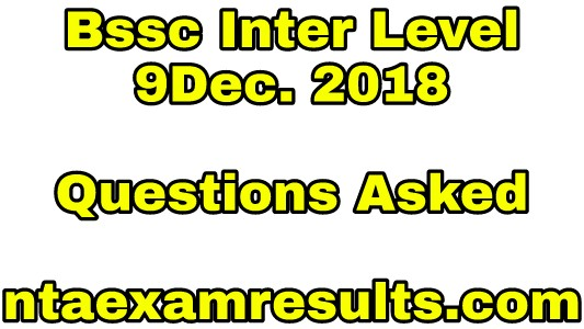 bssc-inter-level-9december-questions-asked