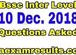 bssc-inter-level-10-december-questions