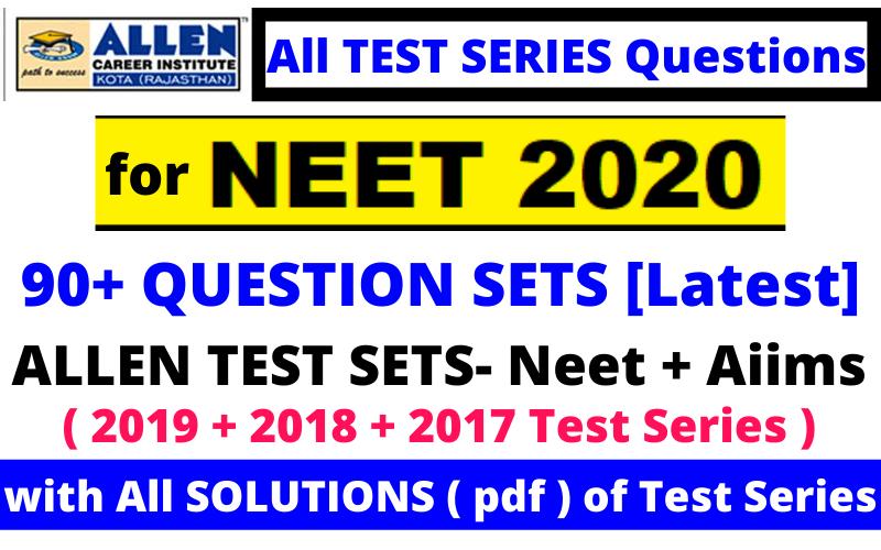 allen neet 2020 test series pdf