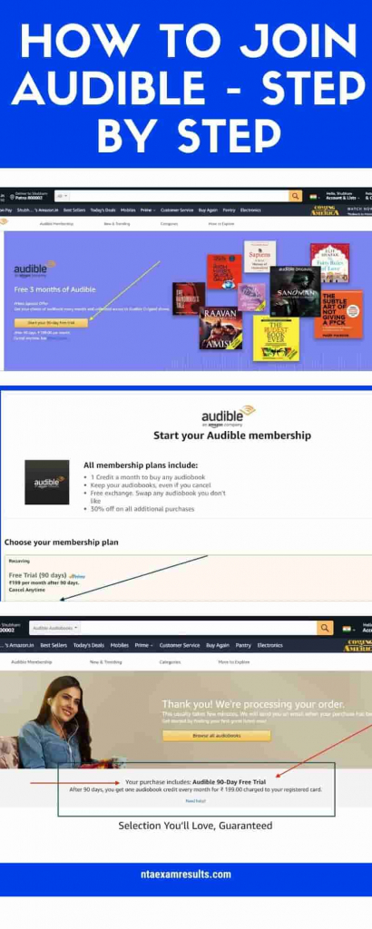 audible 90 days free trial join process